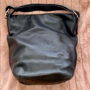 Large black coach hobo bag